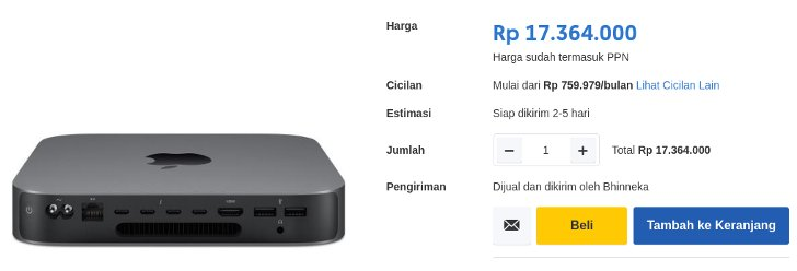 Apple Mac Mini Intel Core i5 RAM 8GB