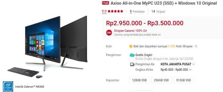 Axioo PC All in One MyPC U23 Harga Termurah