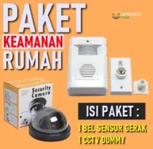 Bell Pintu Otomatis Sensor Gerak Plus Dummy CCTV