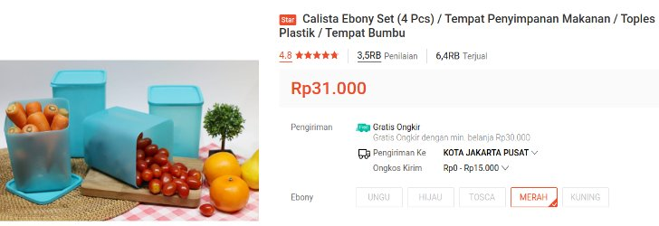 calista ebony set isi 4 pcs