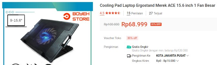 Cooling pad ACE tipe Ergostand Hight Speed
