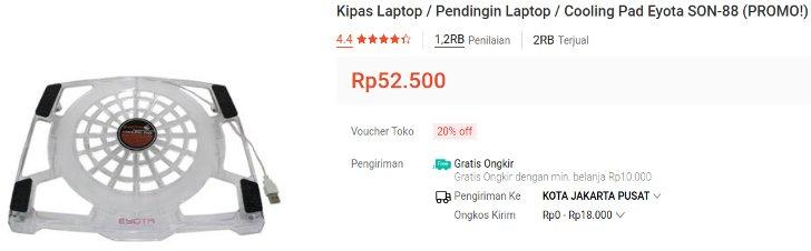 Eyota Kipas Laptop Murah