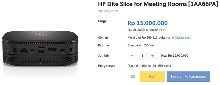 HP Elite Mini PC for Meeting Rooms