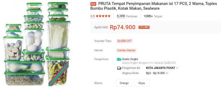 toples kulka Ikea Pruta Sealware isi 17 Pcs