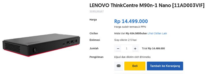 LENOVO ThinkCentre M90n-1 Nano