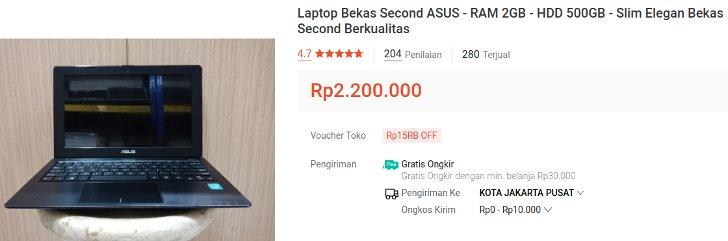 Laptop Asus Bekas 2 Jutaan