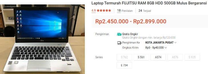 Fujitsu Core i5 2 Jutaan