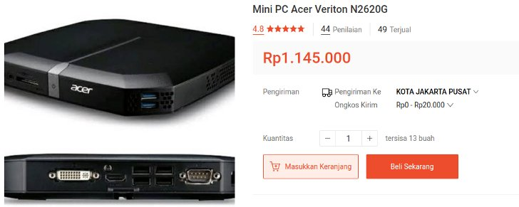 Mini PC Acer Veriton N2620G
