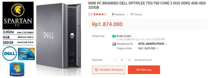 Dell Optiplex 755 RAM 4GB