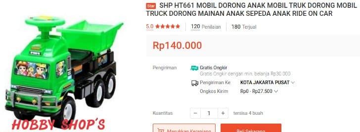 Mobil Dorong Truk SHP HT661