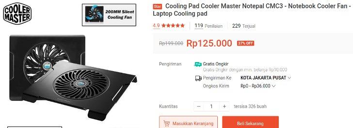 Notepal CMC3 Cooler Master