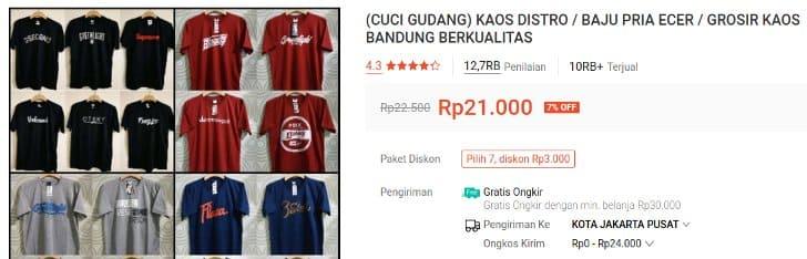 Promo Cuci Gudang baju Distro 20 Ribuan