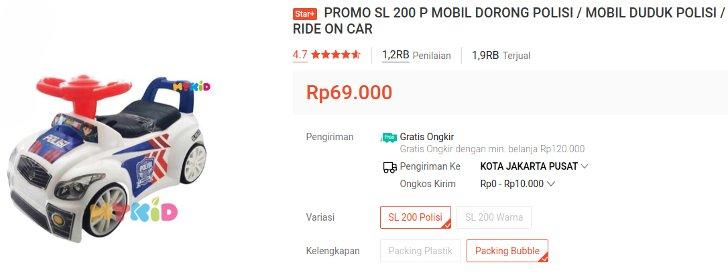 SG Toys SL 200 P Mobil Dorong Temurah 60 Ribuan