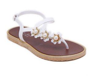 sandal tali motif flower