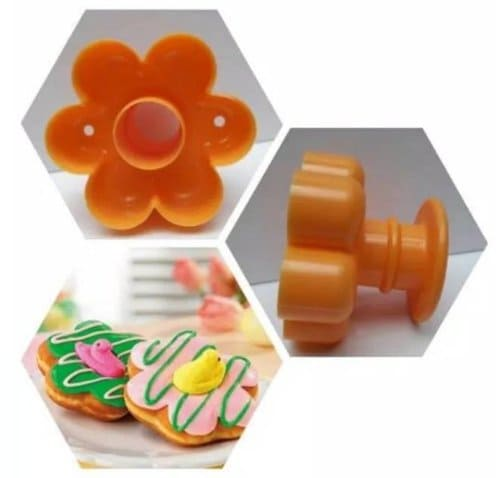 cetakan donat plastik bunga