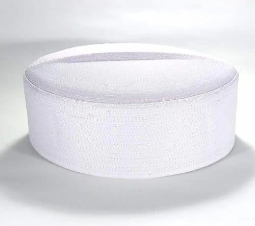 peci putih polos model batok
