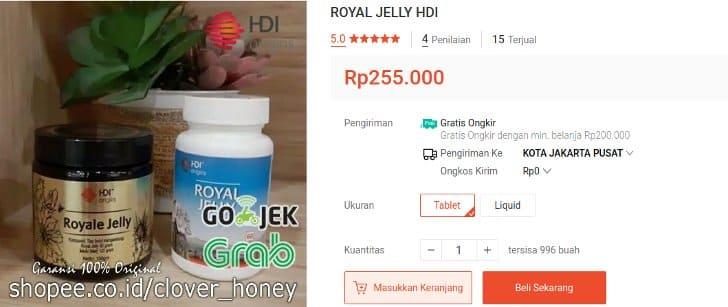 royal jelly hdi cair dan tablet suplemen