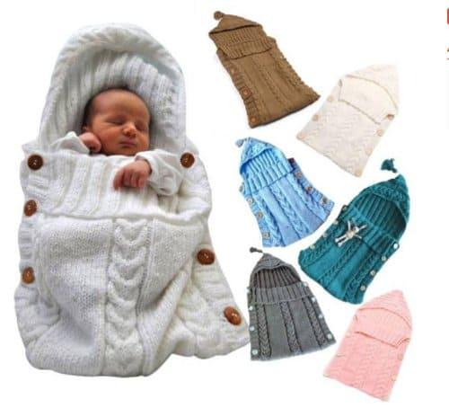 selimut bayi rajut kancing