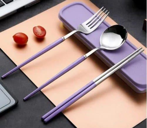 Sendok traveling mewah lengkap dengan sumpit