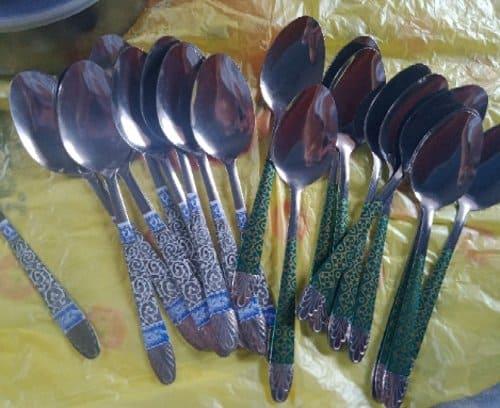 sendok motif batik