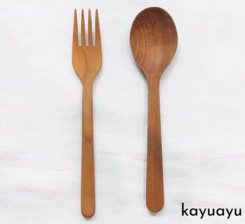 sendok makan kayu jati