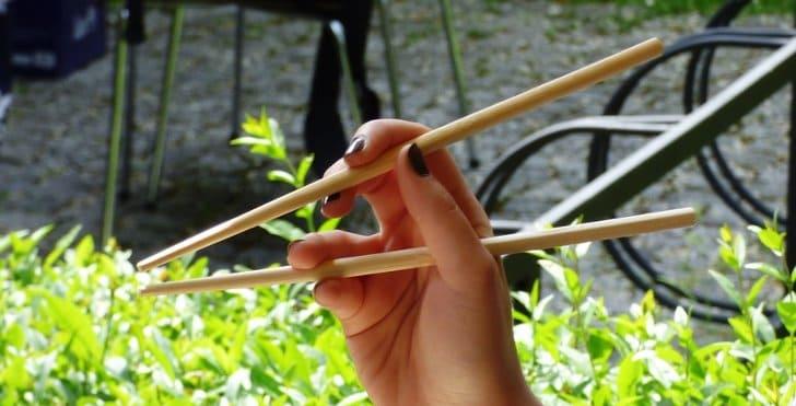 cara memegang sumpit
