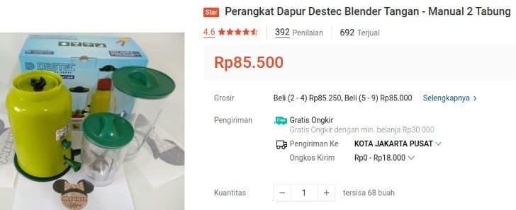 harga blender tangan manual