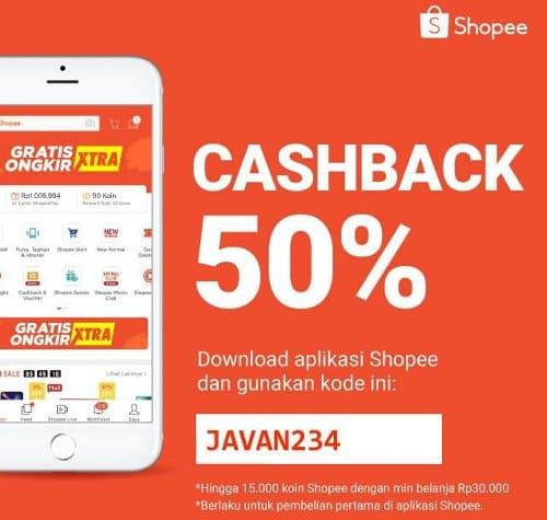 kode cashback shopee pembelian pertama