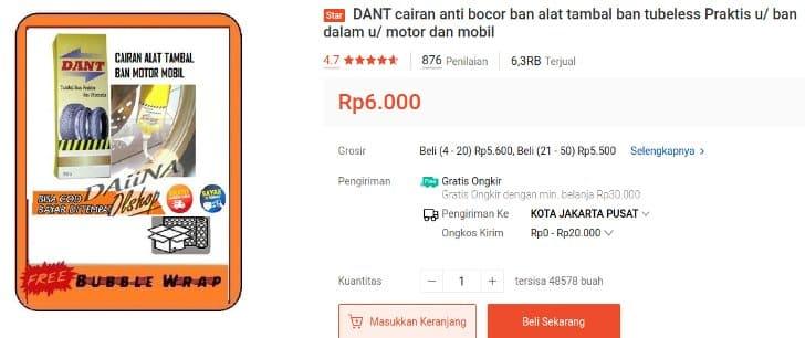 Cairan Tambal Ban Otomatis DANT