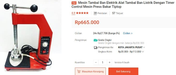 Mesin Tambal Ban Canggih CN Power VT8041