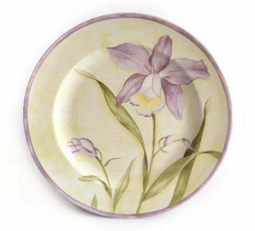 Piring Keramik Cantik Motif Purple Flower