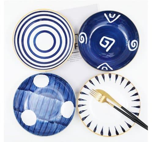piring keramik gaya jepang