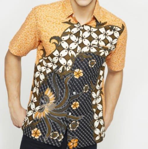 baju batik pria Woffi Sedzo Cotton Print