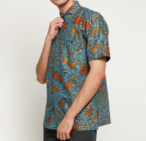 hem batik modern Danar Hadi Lokcan Kembang Soka