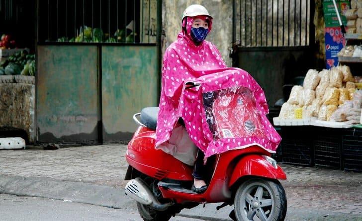 jas hujan motor jenis ponco