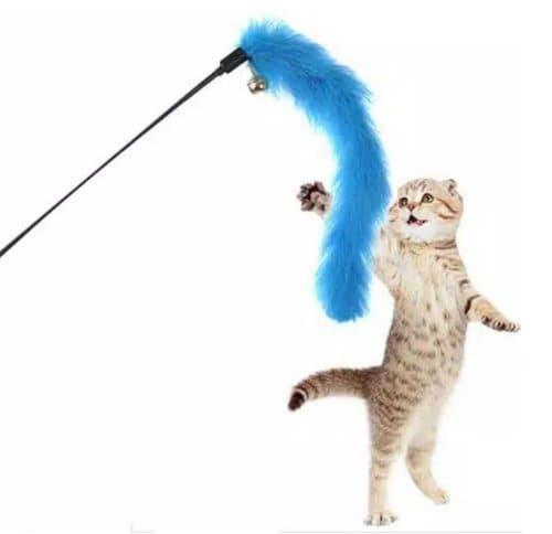 tongkat bulu mainan kucing interaktif