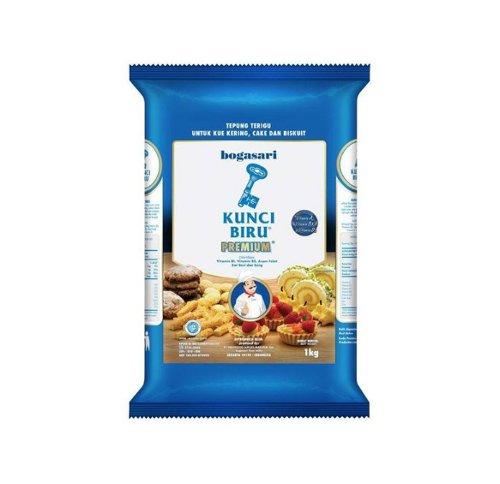 Tepung Terigu Protein Rendah Kunci Biru