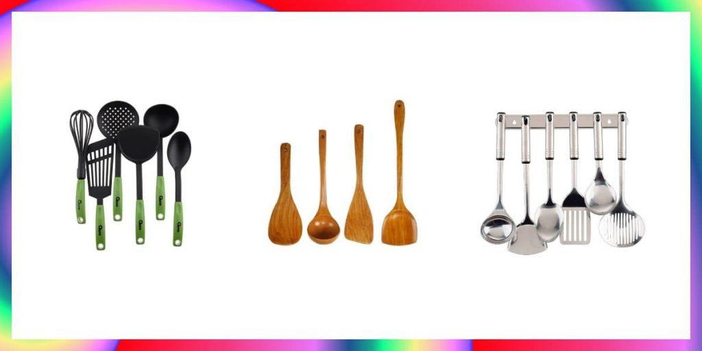 spatula kayu silikon dan plastik