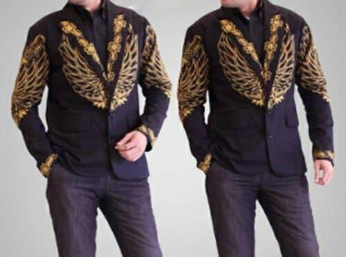 Jas Batik Blazer Pria masa kini