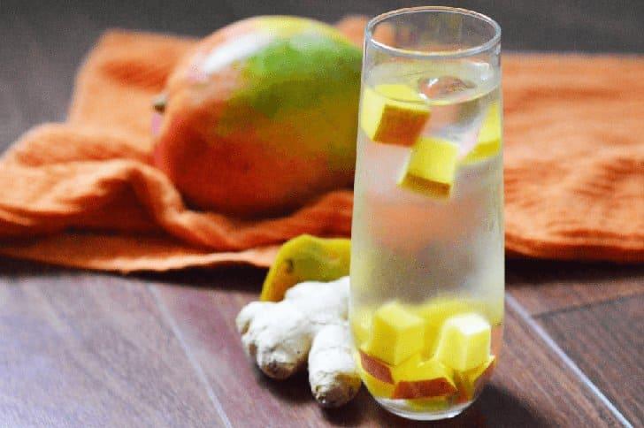 infused water jahe mangga