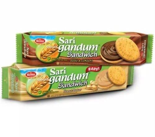 Roma Sari Gandum Sandwich Susu dan Coklat