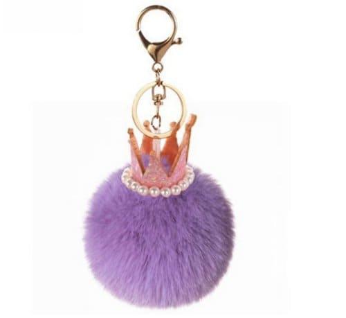 keychain Pom Pom Crown