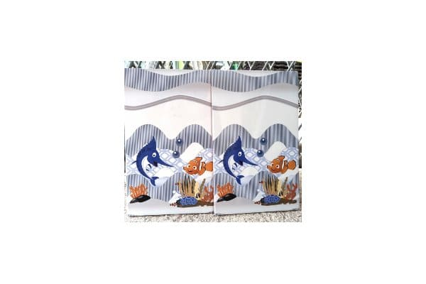 keramik kamar mandi anak motif ikan