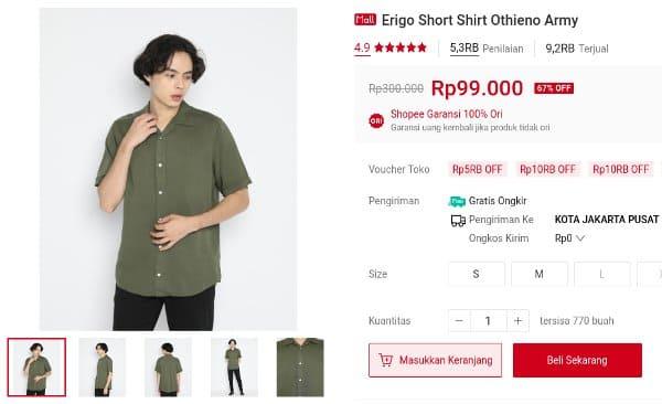 Erigo Short Shirt Othieno Army