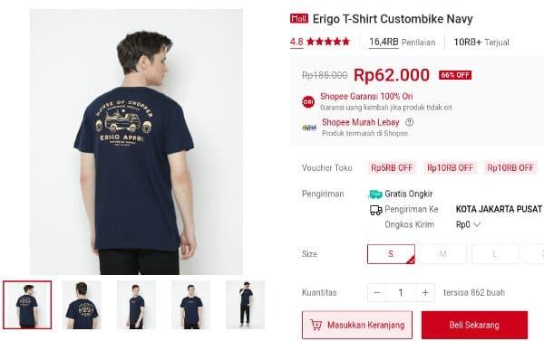 2. Erigo T-Shirt Custombike Navy