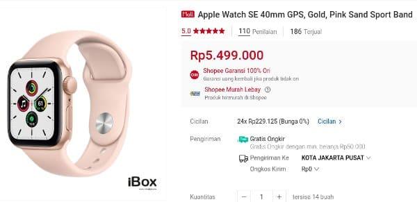 ibox shopee Apple Watch SE 40mm GPS
