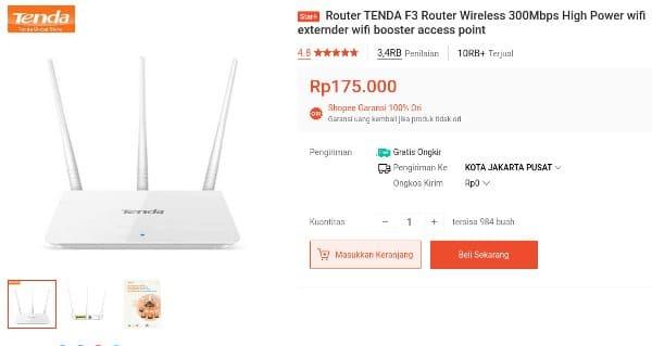router Tenda Wireless F3