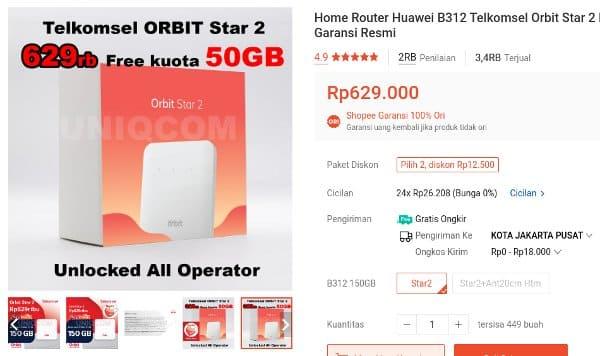 router wifi Huawei B312 Orbit Star 2